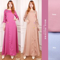 Glow fashion Dress maxi panjang gamis kaftan wanita jumbo long dress Nazeva