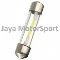 Lampu LED Mobil Kabin / Plafon / Festoon / Double Wedge COB Glass Lens 12 SMD 31mm - White