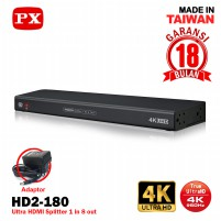 HDMI Splitter 1 input 8 output Video HD 4K HDR 2.0 PX HD2-180