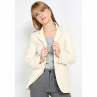 Mobile Power Ladies Ivory Rose Pocket Blazzer - Ivory MR802