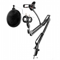 Murah Microphone Stand Condenser & Phone Stand Holder 360 Degree Adjustable Terbaru