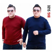 Big Size Sweater Pria Babytery O Neck fit to 3XL - KFashion