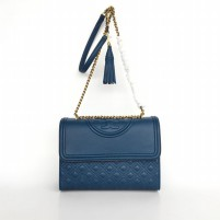 Tas Branded Tory Burch Fleming Convertible Shoulder Bag - Biru