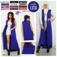 LONG SLEEVELESS CARDIGAN fit to xxl bahan spandek rayon super halus dan tebal BEST QUALITY!