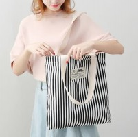 TC60 Korea Literary Women Canvas Women Tote bag / Tas Tote Wanita