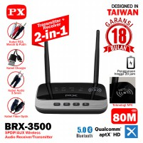 Receiver Bluetooth Transmitter Audio 5.0 NFC HDstereo 2in1 PX BRX-3500