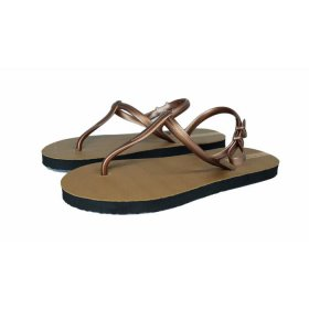 Sandal Casual / Sandal Sun Swallow Strappy Travel in Brown Rosegold