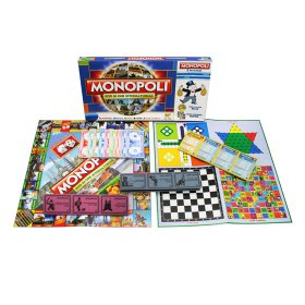 MONOPOLY 5 IN 1 - MADE IN INDONESIA