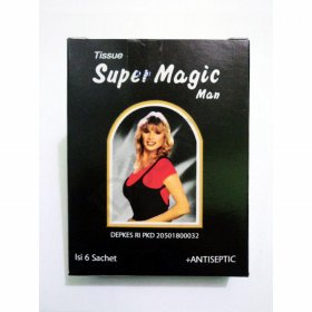 super magic tissu basah 6 sachets tahan lama kontrasepsi KB tissue kondom