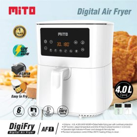 Mito AF1 Digital Air Fryer Low Watt Kapasitas 4 Liter