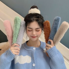 IK92 Ikat Rambut Magic Bun Maker Bulu Lembut Hair Band