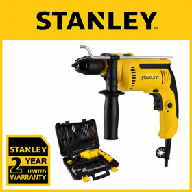 Stanley 13mm 650W Hammer Percussion Drill - Value Pack SDH700KV-B1