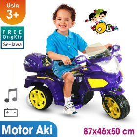 Free Ongkir Se-Jawa Ocean Toy Yotta Ride On Motor Aki Halilintar - Purple