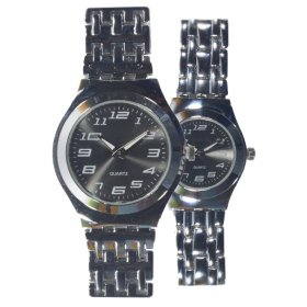 [1+1] Jam tangan Couple | Strap Stainless Steel | Elegant Couple | FIN 101