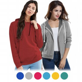 Unisex Hodie Jacket with zipper/Pullover  plain - jaket hoodie wanita - sweater cardigan ziper - available 16 colours