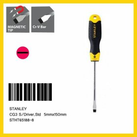 Stanley 5mm x 150mm Slotted Cushion Grip S/Driver STHT65188-8