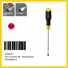 Stanley 5mm x 200mm Slotted Cushion Grip S/Driver STHT65189-8