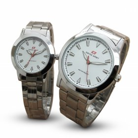 [COUPLE SET] Swiss Army Stainless Steel watches