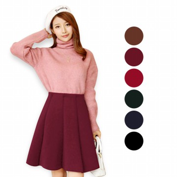 KOREAN STYLE ★ [#8] Emma Space Cotton Skirt(#8)/Rok midi/Rok tebal/Rok pesta