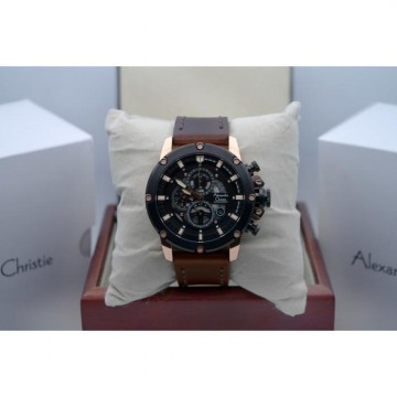 Alexandre Christie AC 6416MC Rose Gold Black Original