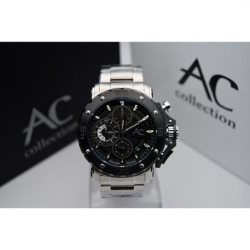 Alexandre Christie AC Collection AC9205MC Silver Black Original Men