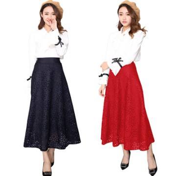 KOREAN STYLE ★ [#612] Maxi Flower Punching Skirt/Rok panjang/Rok Pesta/Rok Ngembang
