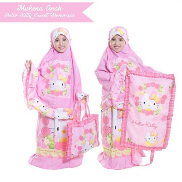 Perlengkapan Sholat | Mukena Anak Hello Kitty Sweet Memories (Size XL)