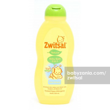 Zwitsal Natural Baby Bath 2 in 1 Hair & Body - 200 ml