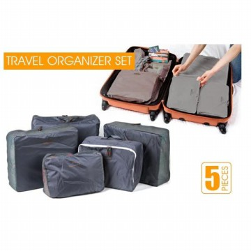 FIRSTPROJECT TAS KANTUNG PENYIMPANAN PENYUSUN KOPER 5 IN 1 SET TRAVEL ORGANIZER POUCH