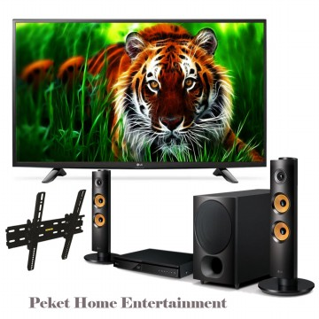 Paket Home Entertainment LG Led TV DigitaL 43 LH 511T+Bracket+Home Thaeter DH6340F
