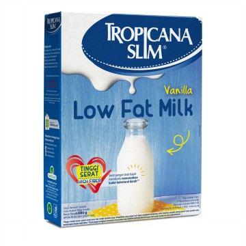 Susu Low Fat Vanila Tropicana Slim 180 Gr