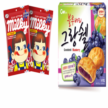 Pekoe sweet milky candy, 81.6g*2 + grangshell Blueberries230g / 밀키캔디*2+그랑쉘블루베리