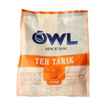 Teh Tarik Owl Since 1956 Made in Singapore isi 20 sachet