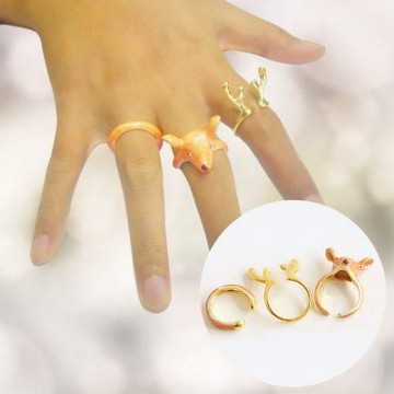 Cincin Korea Christmas Elk Ring Three Piece Set R1CHR3