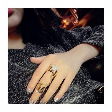 Cincin Korea Best Seller Rings Star Shape Decorated Simple Design RBF5A8