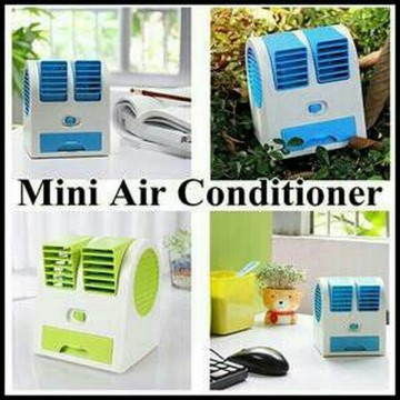 Ac Portable Mini Duduk Double Fan Mini Fan Mini Ac Air Conditioning HargaPrommo02