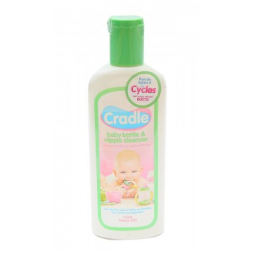 Cradle Baby Bottle & Nipple Cleanser Bottle Travel Size - 200ml
