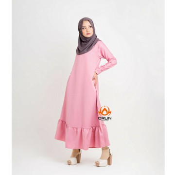 ORLIN GAMIS POLOS GL-031 BABY DOLL KRIWIL MATT BALOTELLI BUSUI ALL SIZE BY INDOHIJAB GROSIR