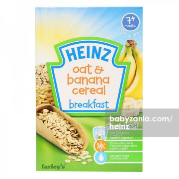 Heinz Breakfast Oats & Banana Cereal 120gr - 7m+