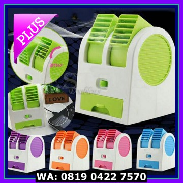 (Diskon) AC Mini Portable Double Fan