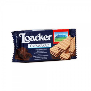 Loacker Wafer Cream Kakao 45Gr