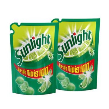 (Paket 12 Pouch) Sunlight Lime Pencuci Piring 105 ml