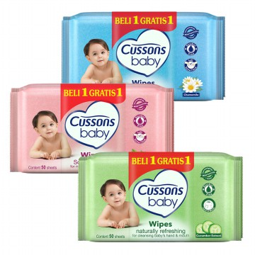 WET TISSUE CUSSONS 50'S bonus 30's