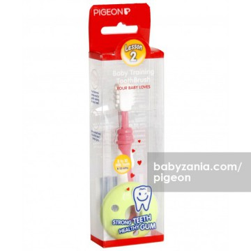 Pigeon Baby Training Tooth Brush 8-12M - L-2 Pink
