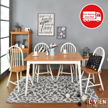 MEJA MAKAN 4 KURSI - DINING TABLE 1200