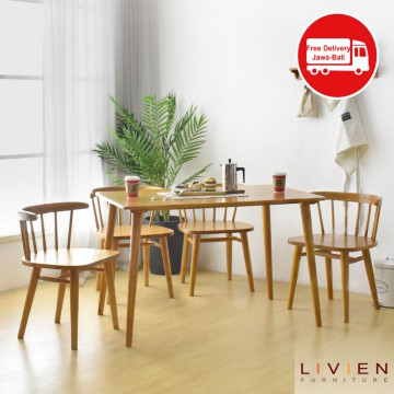 MEJA MAKAN - RIBE DINING TABLE 860 Set 4 Kursi