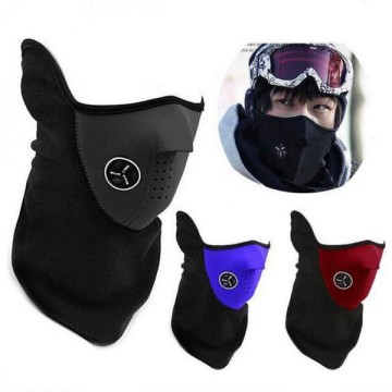 Masker Motor dan Sepeda Half Face Hitam With Air Breathing Filter