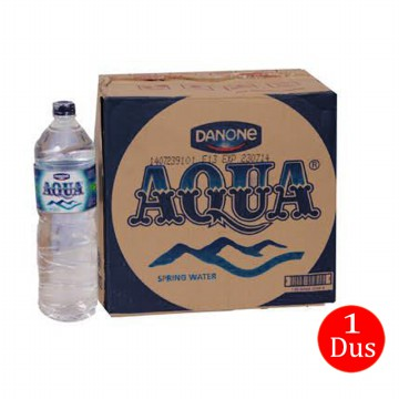 Aqua Air Mineral Botol - 1500ml isi 12pcs (1 Dus/Box/Karton)
