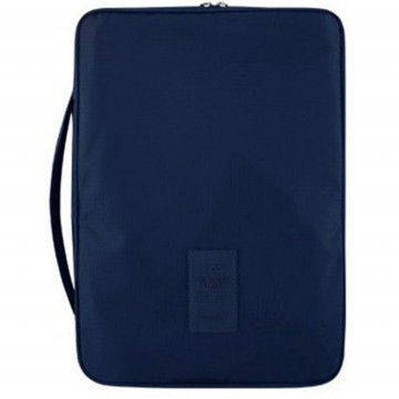 Slim Shirt Pouch Necktie Pocket Travel Bag / Tas Travel - Navy Blue
