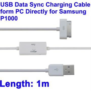 Samsung USB Data Sync and Charging Cable for Samsung Galaxy Tab Tab P1000/P3100/P5100 - White